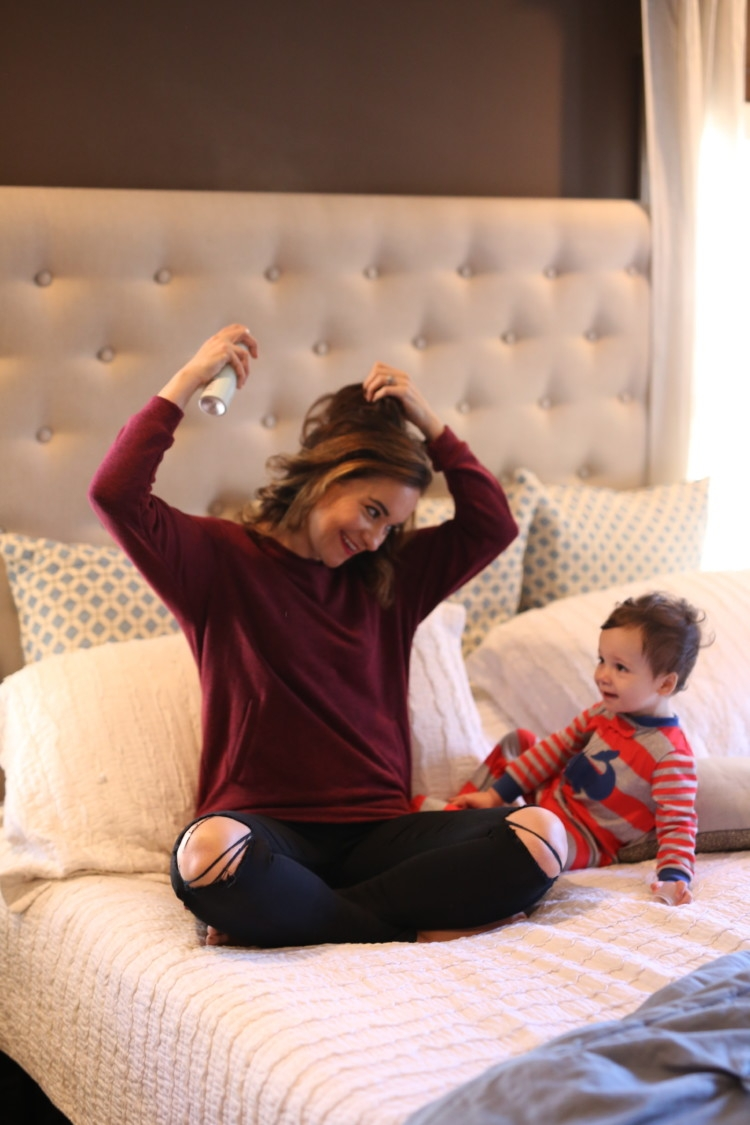 3 mistakes you're making with your dry shampoo from alabama blogger Heather of MyLifeWellLoved.com // baby boy and momma fashion // dirty hair hack - Dry Shampoo Tips: 3 Mistakes You're Making with Your Dry Shampoo by Alabama lifestyle blogger My Life Well Loved