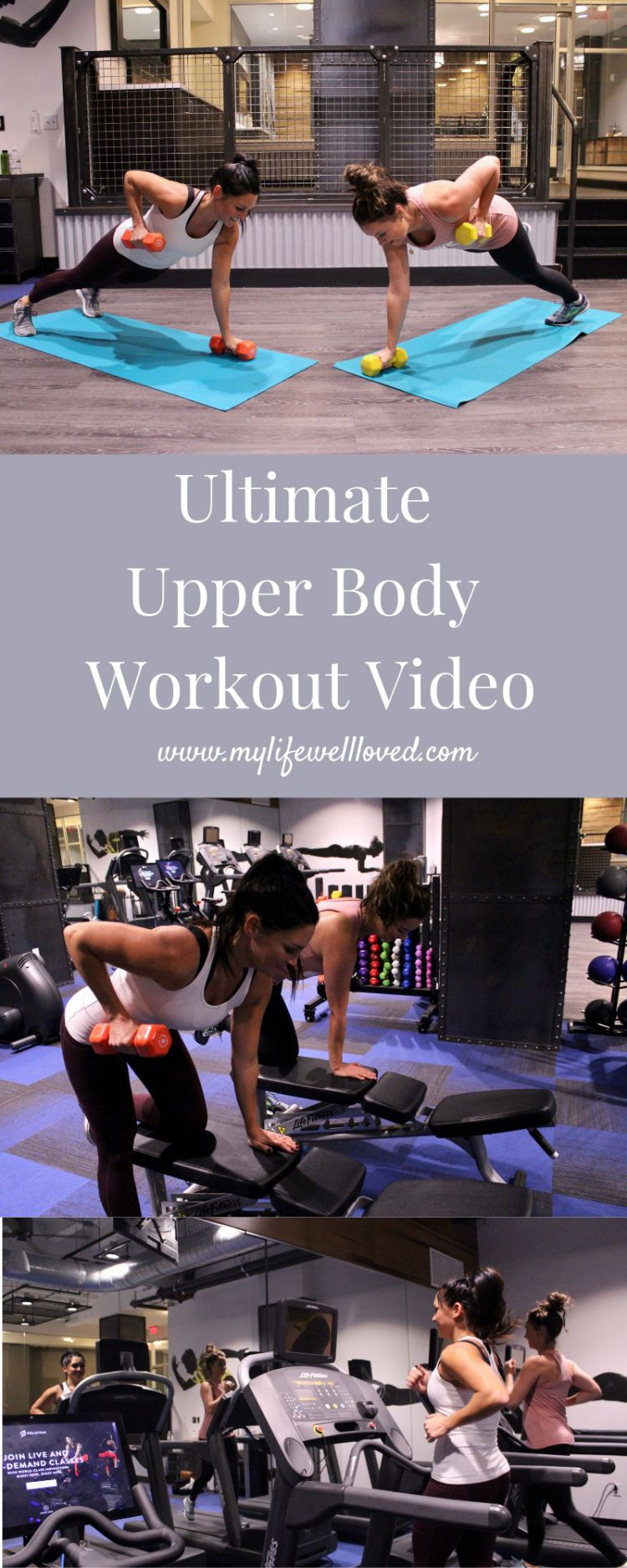 The Ultimate Upper Body Workout Video at Home or Gym by Healthy Life + Style Blogger, My Life Well Loved // #homeworkout #upperbodyworkout #whole30workout