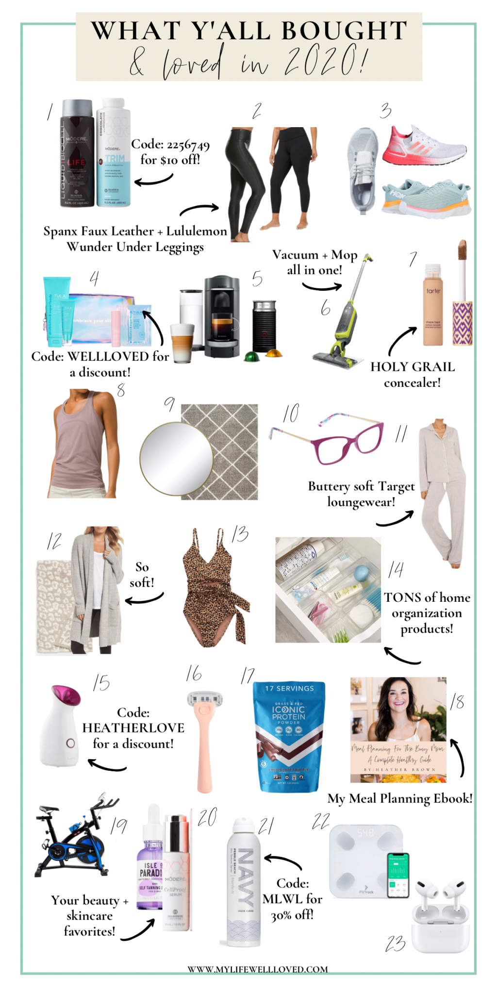 2020 Favorites: Top 20+ Purchases YOU Loved by Alabama Life + Style blogger, Heather Brown // My Life Well Loved