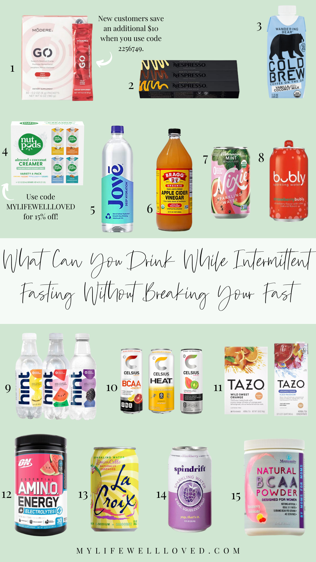best drinks for intermittent fasting