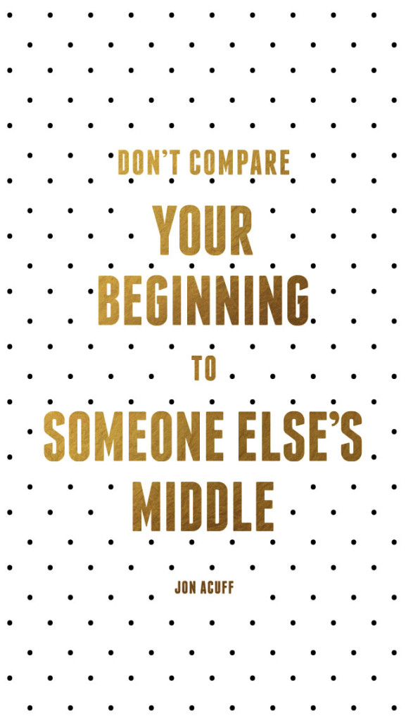 Jon Acuff: Don't compare your beginning to someone else's middle