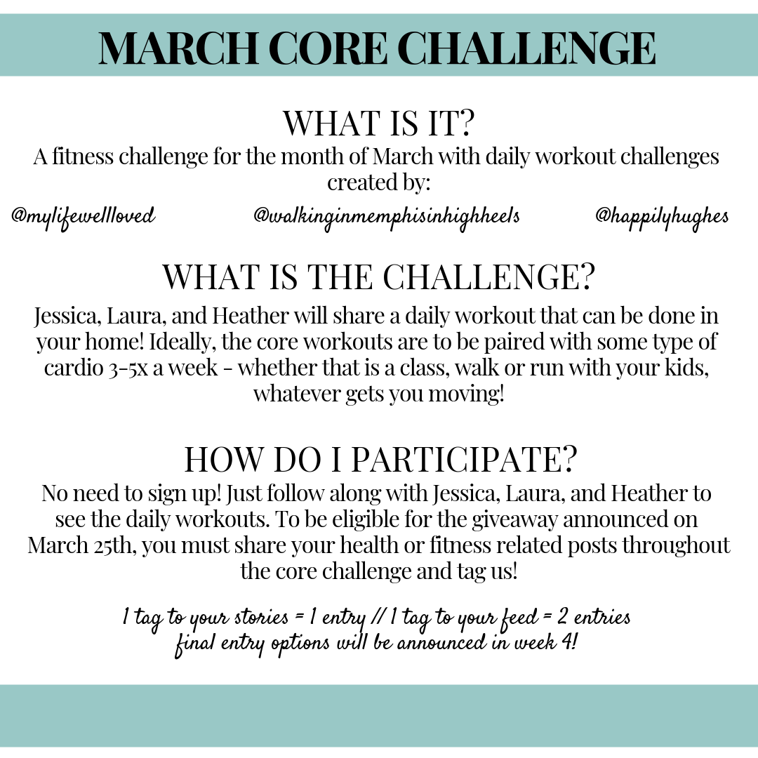 The Ultimate Core Challenge: Week 1 by Heather Brown at My Life Well Loved // #corechallenge #postpartumfitness #fitness