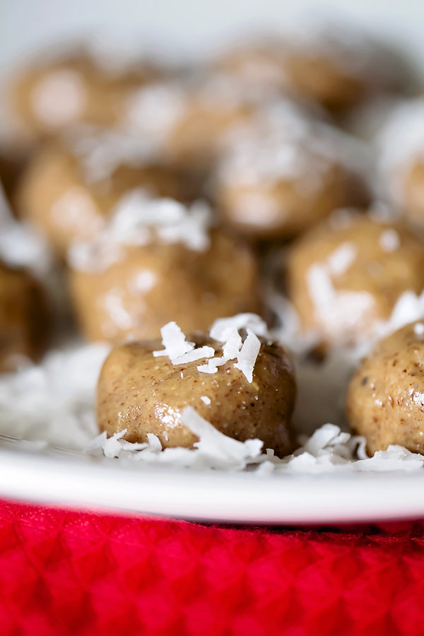 Almond Butter Coconut Protein Balls