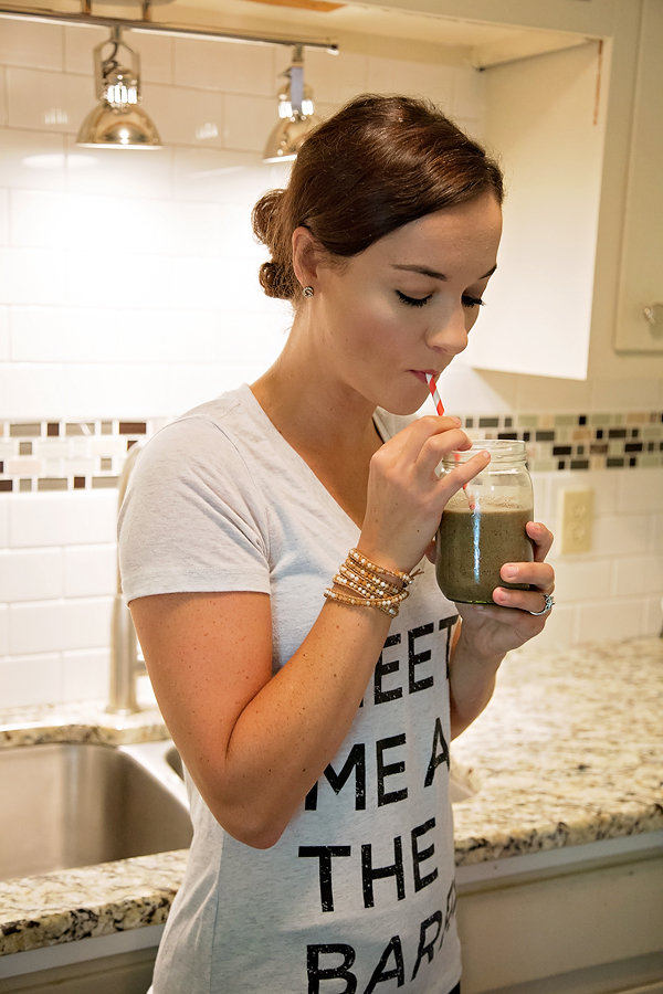 Healthy Cacao Raspberry Greens Smoothie | My Life Well Loved