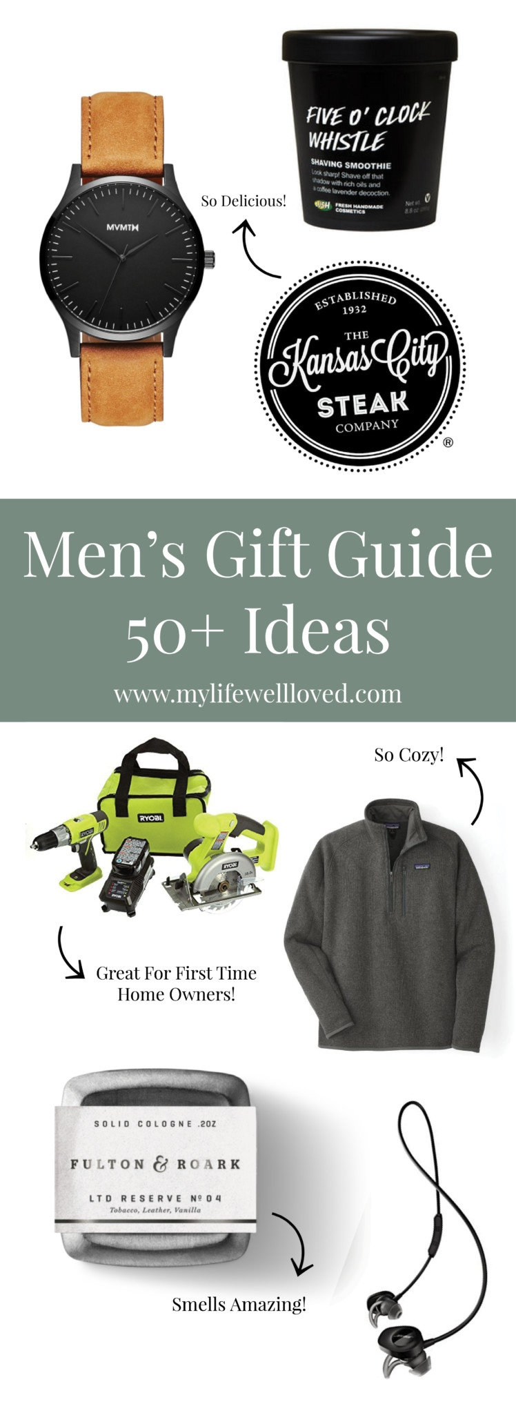 holiday gifts for males // what to get dad // gift ideas for your man // husband gift ideas // dad gift ideas // brother gift ideas | Top Christmas Gifts for Him: 50+ Ideas featured by top Birmingham lifestyle blog My Life Well Loved