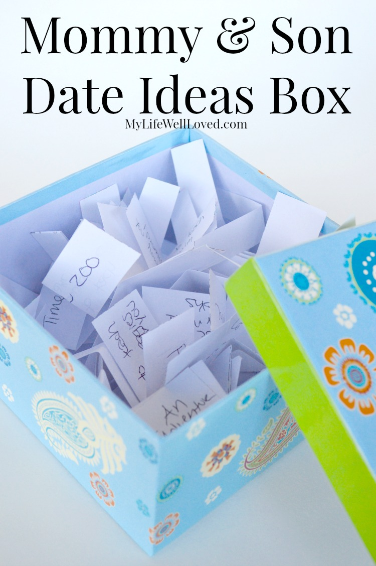 Mommy and Son Date Ideas Box, Heather Brown of My Life Well Loved