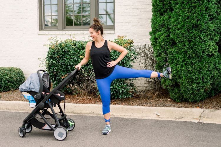 Stroller Workout Video for Postpartum Moms by Heather Brown at MyLifeWellLoved.com // #strollerworkout #workoutvideo #quickworkout #postpartumbody #postpartum #fitmom