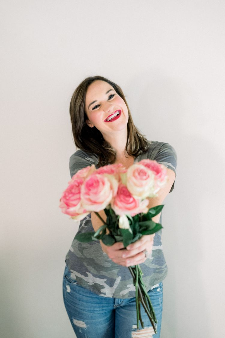 Brickyard Buffalo Guest Editor Heather of MyLifeWellLoved.com styles Camo