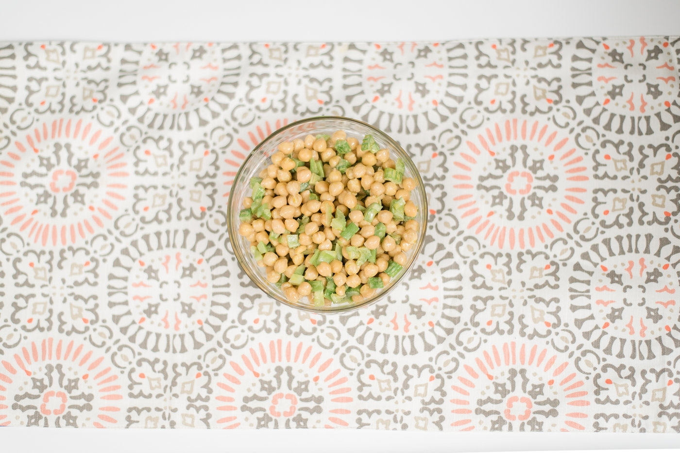 Simple Chickpea Salad by Alabama Life + Style blogger, Heather Brown // My Life Well Loved