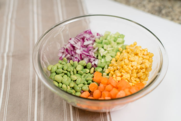 Colorful Salad Recipe with Healthy Lifestyle blogger Heather of Mylifewellloved.com