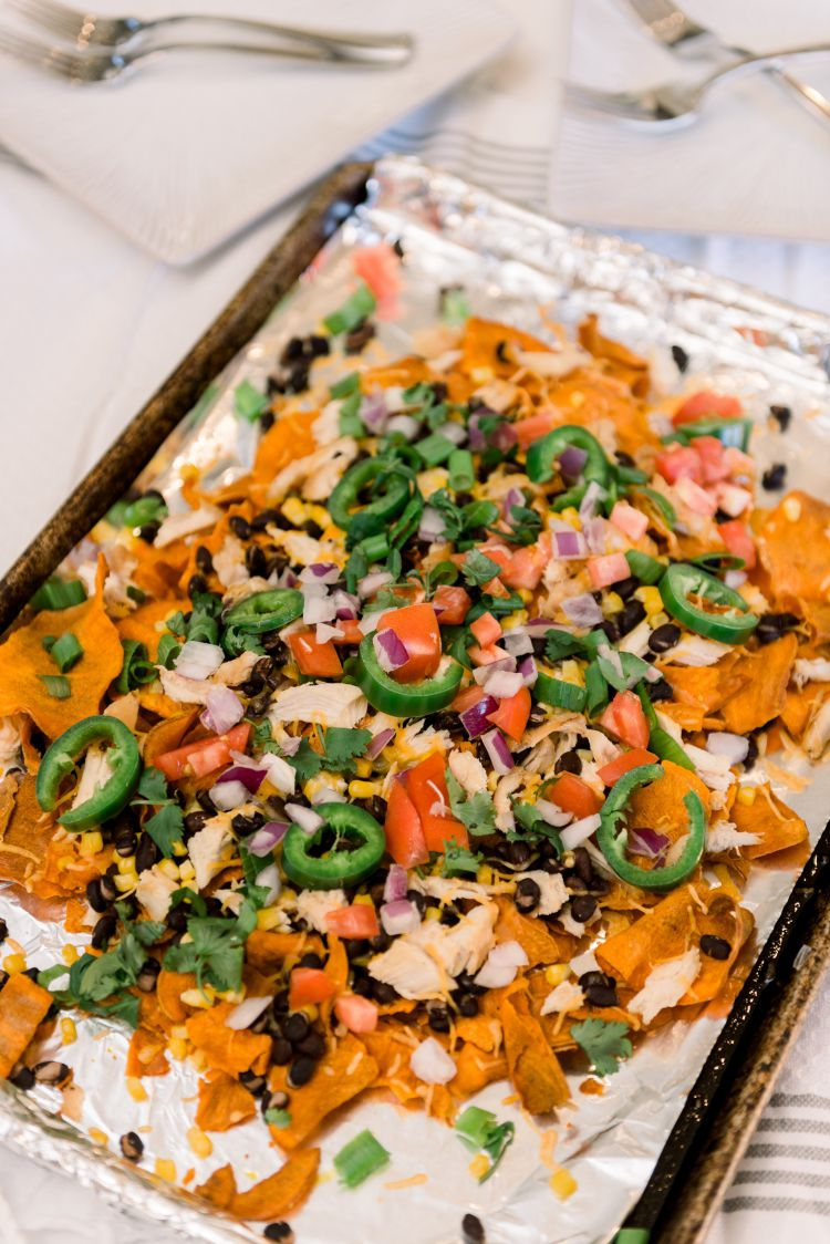 Loaded Healthy Sweet Potato Nachos featured by top Birmingham lifestyle blog, My Life Well Loved.