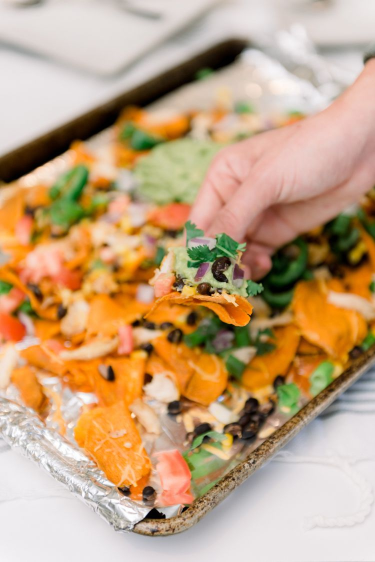 Loaded Healthy Sweet Potato Nacho Recipe