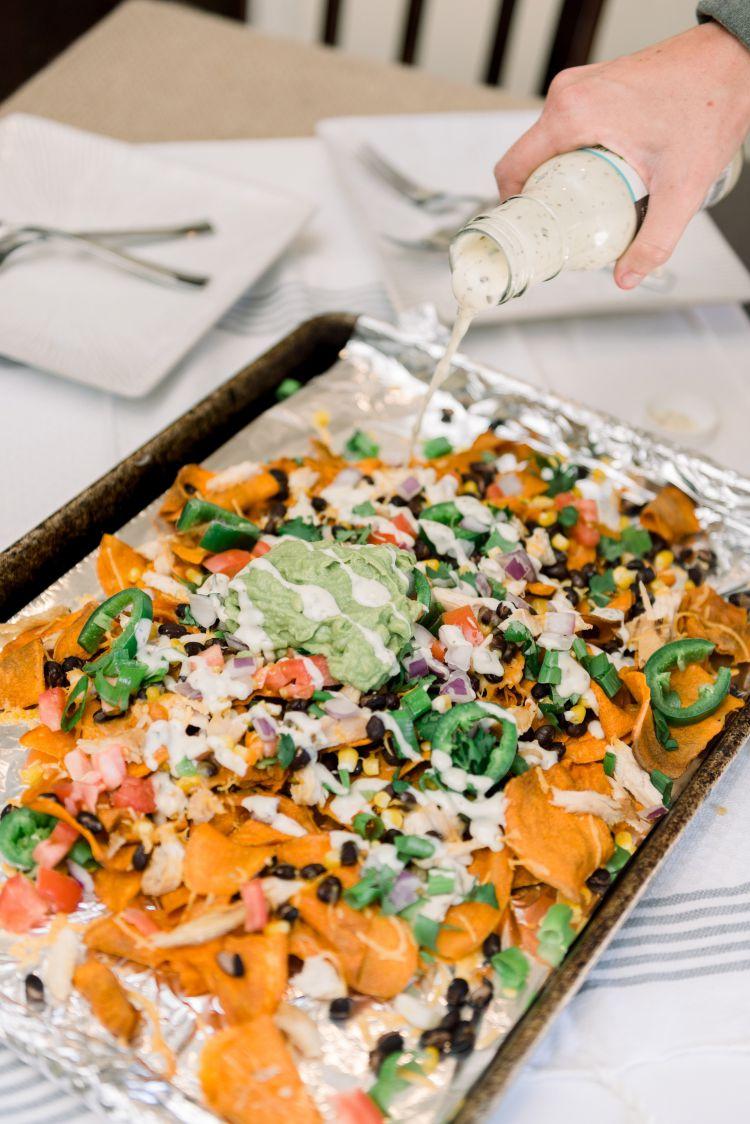 Loaded Healthy Sweet Potato Nacho Recipe