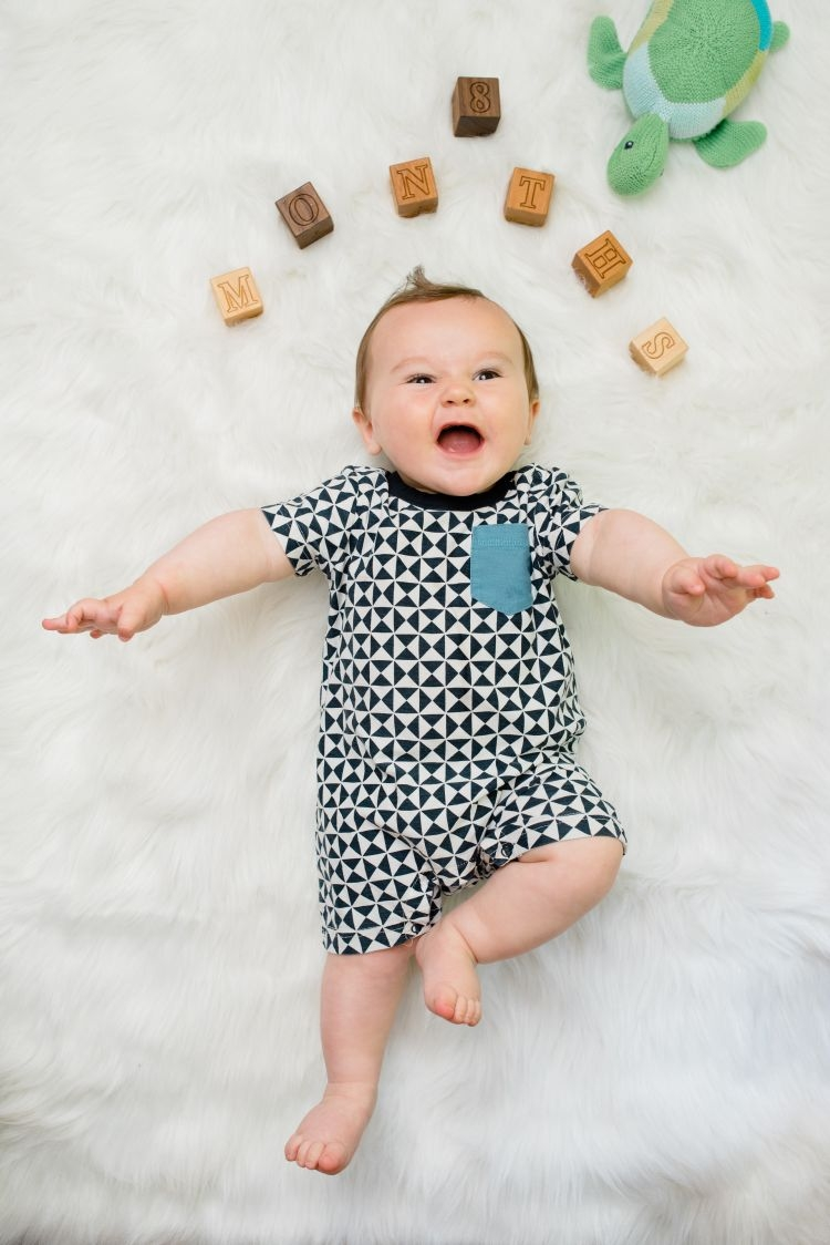 Finn 8 months old baby milestones by month