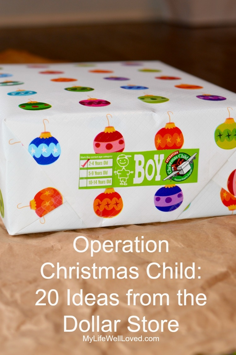 Operation Christmas Child Shoe Box Ideas | Dollar Store Christmas Gifts featured by top Birmingham lifestyle blog My Life Well Loved