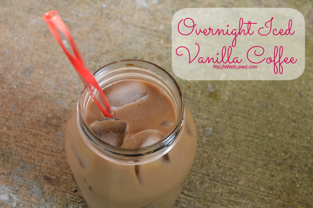Overnight Iced Vanilla Coffee. No muss, no fuss, simple recipe for hot summer mornings when you don't want hot coffee.