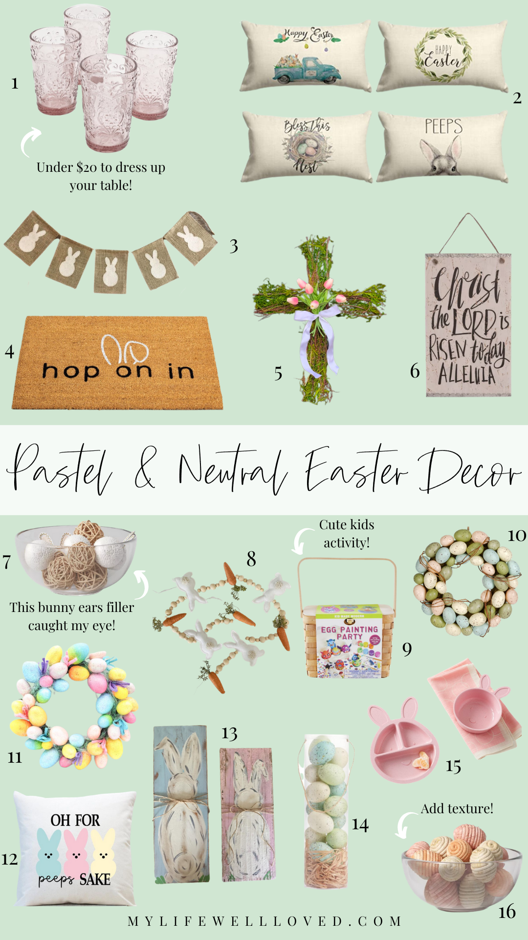 Target Easter Decor Favorites by Alabama Home + Lifestyle blogger, Heather Brown // My Life Well Loved