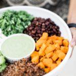 Superfood Salad with Cilantro Avocado Dressing