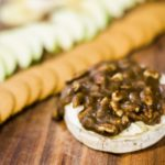 Baked Brie with Whiskey Pecan Sauce