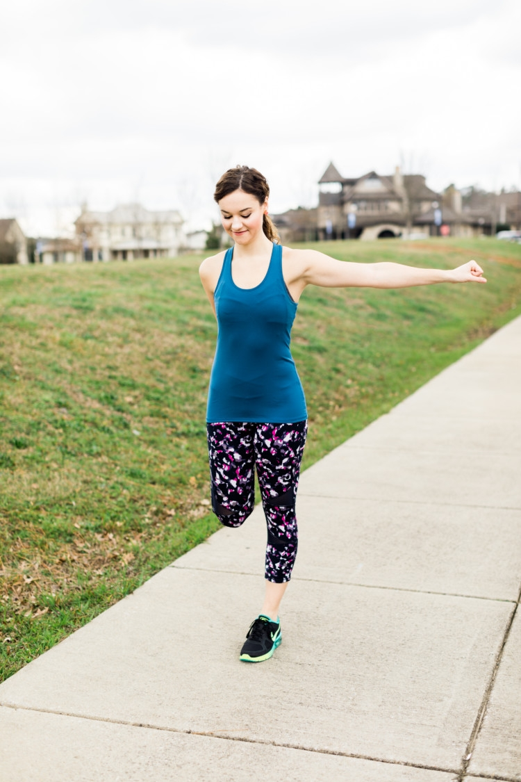 Paleo Challenge: Athleisure + Stretching: Yummie Athletic Wear from Heather of MyLifeWellLoved.com