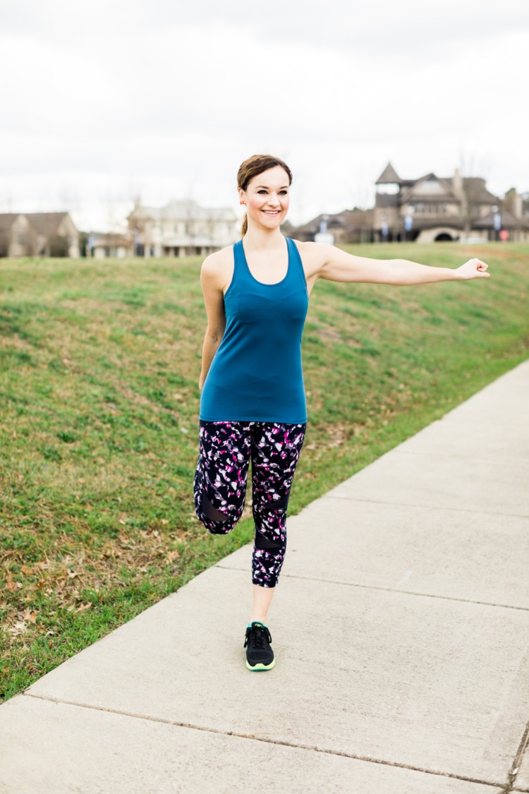 Paleo Challenge: Mom Fitness Athleisure Look + Stretching: Yummie Athletic Wear from Heather of MyLifeWellLoved.com