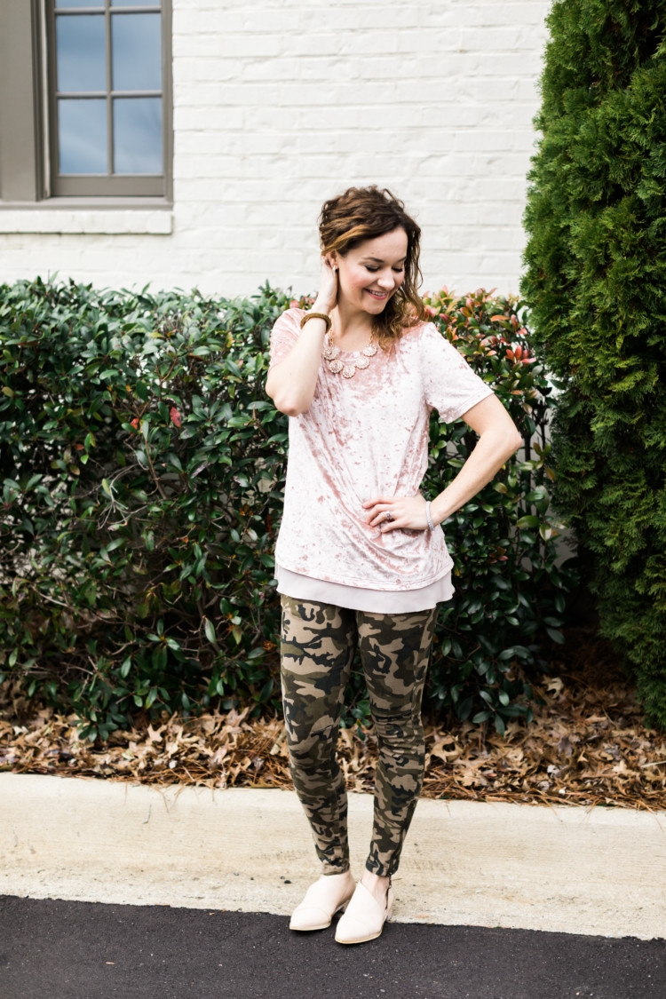 Mom Style Checklist + Camo and Girly Blush Pink from Heather of MyLifeWellLoved.com