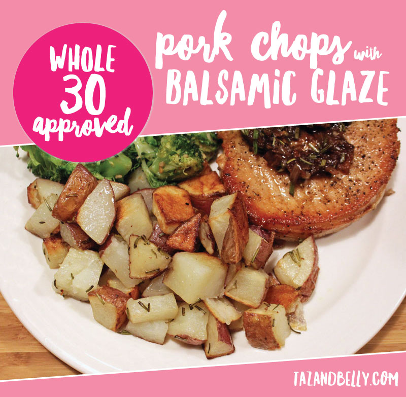 Whole30 Pork Chops and Balsamic Glaze by AL blogger My Life Well Loved