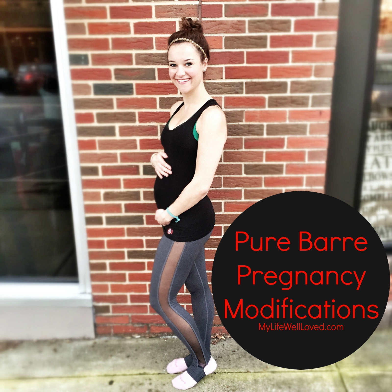 Pure Barre Pregnancy Modifications broken down by sections of class