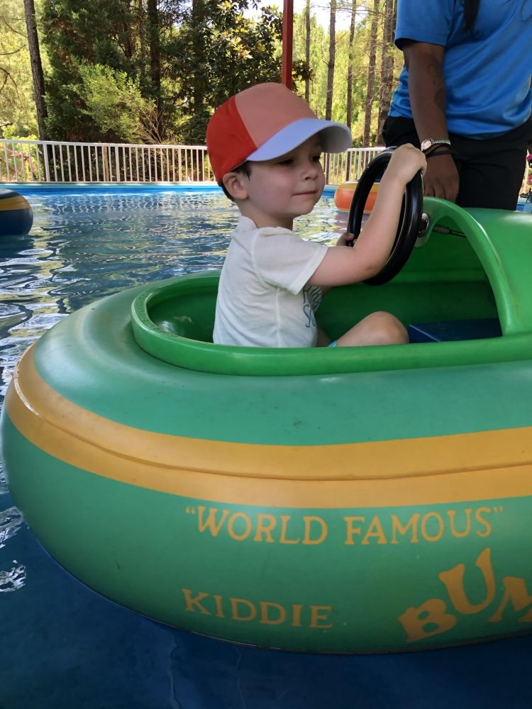 letter to my 4 Year Old // mylifewellloved.com Leyton in bumper boats
