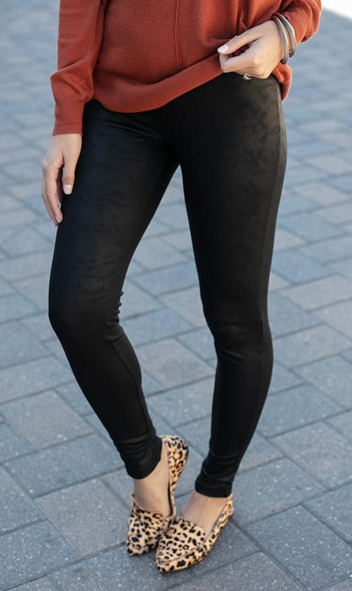 8+ Spanx Faux Leather Leggings Dupes You'll Find On Amazon + Other Retailers by Alabama Life + Style Blogger, Heather Brown // My Life Well Loved