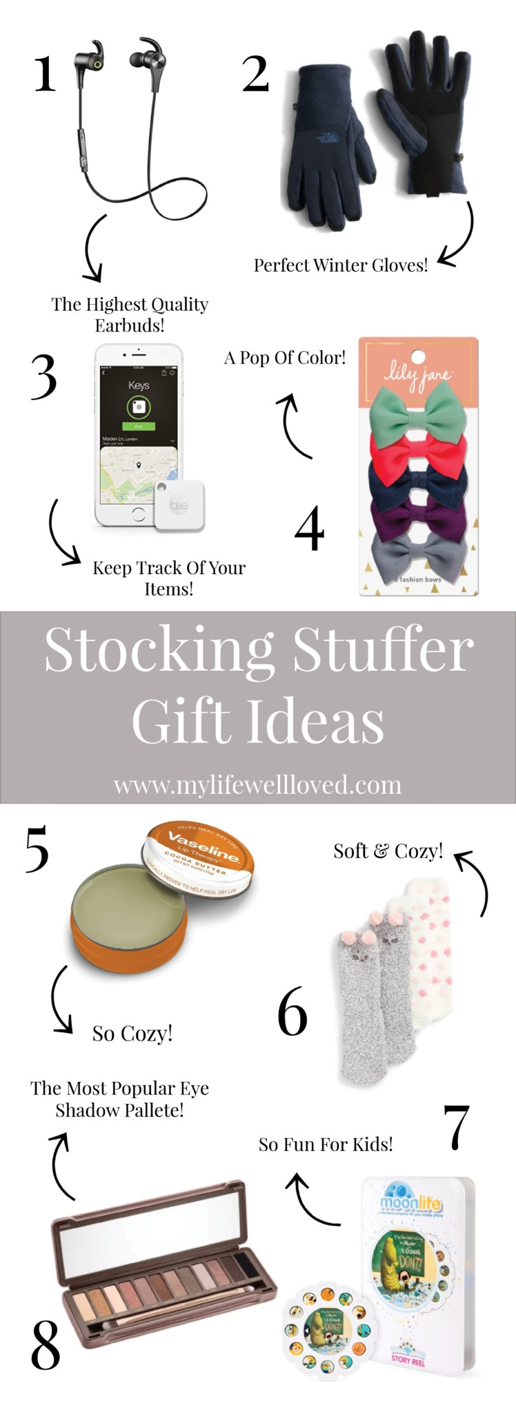 Stocking stuffer gift guide from alabama blogger Heather of MyLifeWellLoved.com