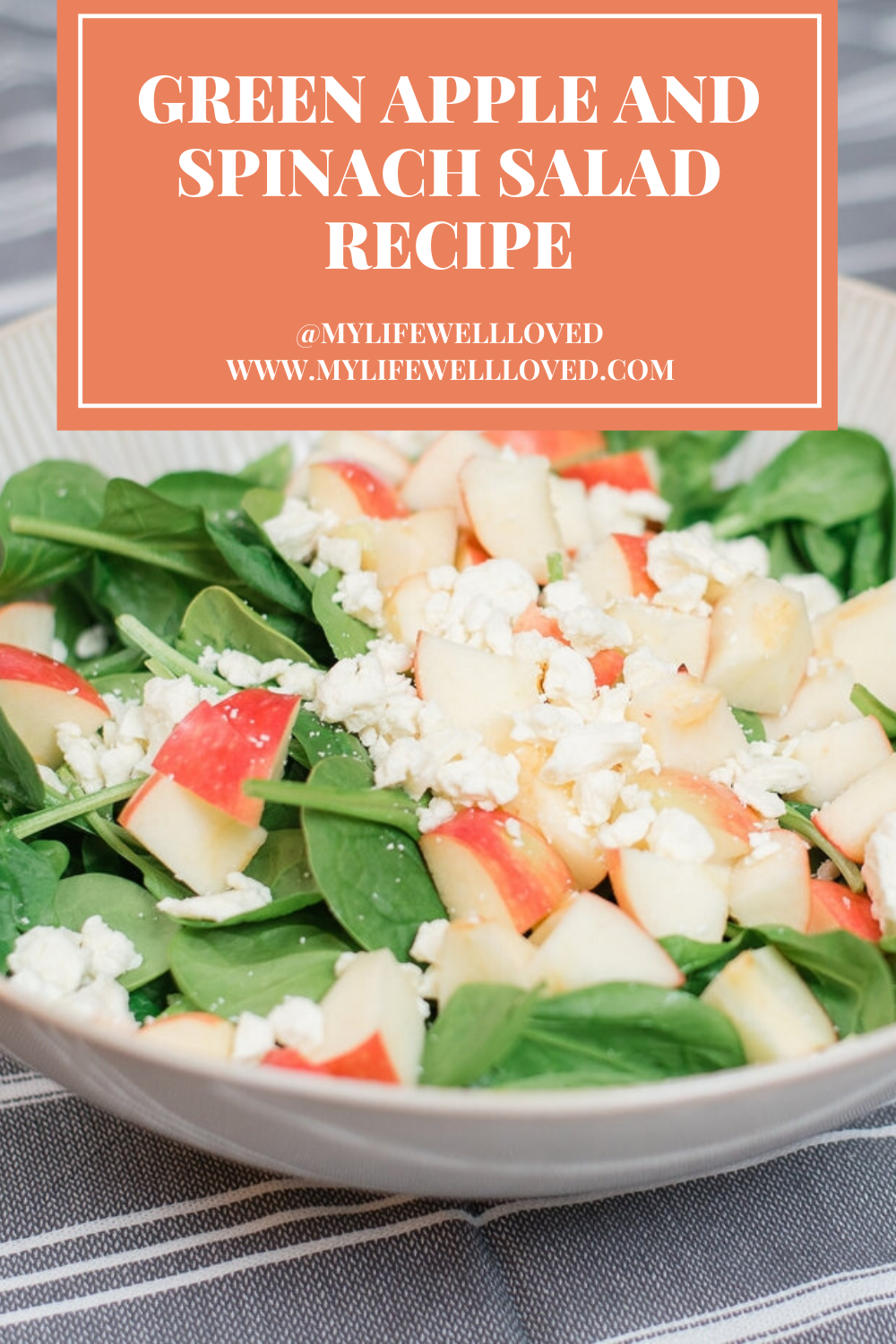 Green Apple And Spinach Salad by Alabama Health + Food blogger, Heather Brown // My Life Well Loved