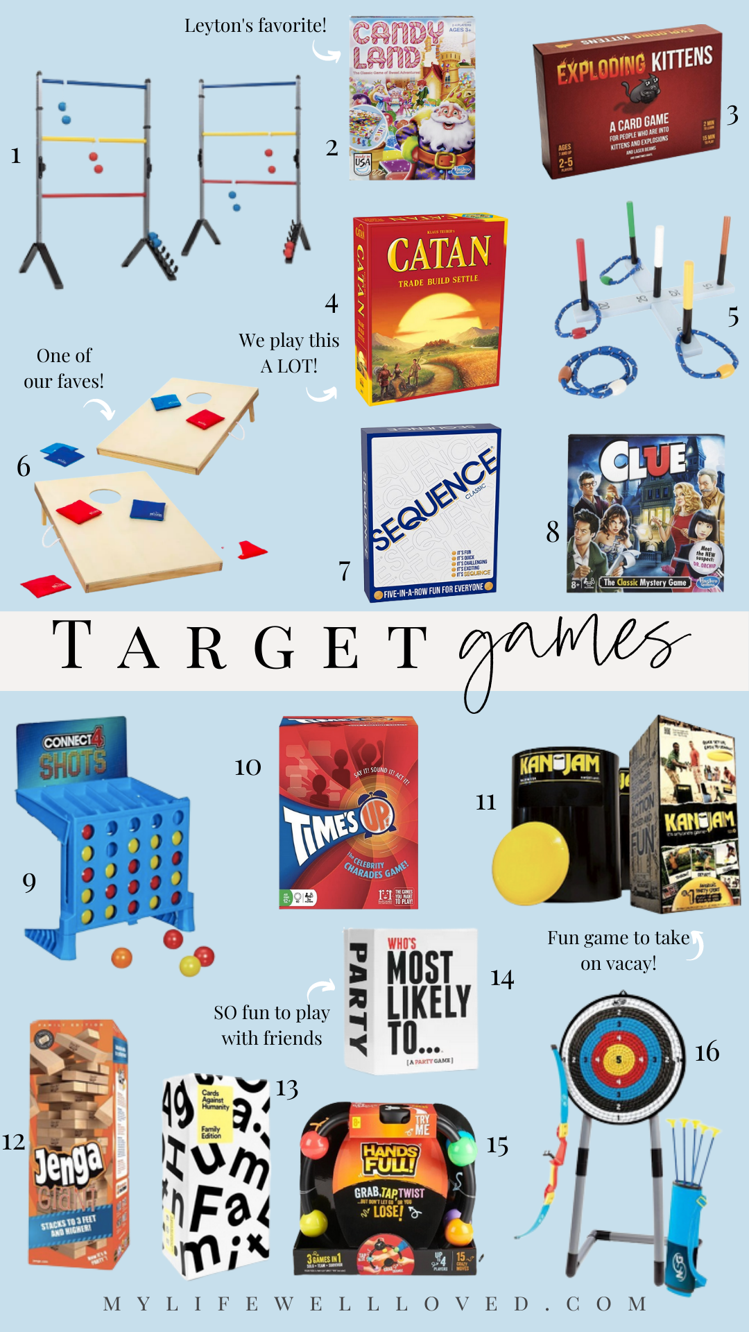 Target Family Games: 5 Games For Your Favorite Indoor And Outdoor Activities by Alabama Family + Mommy blogger, Heather Brown // My Life Well Loved