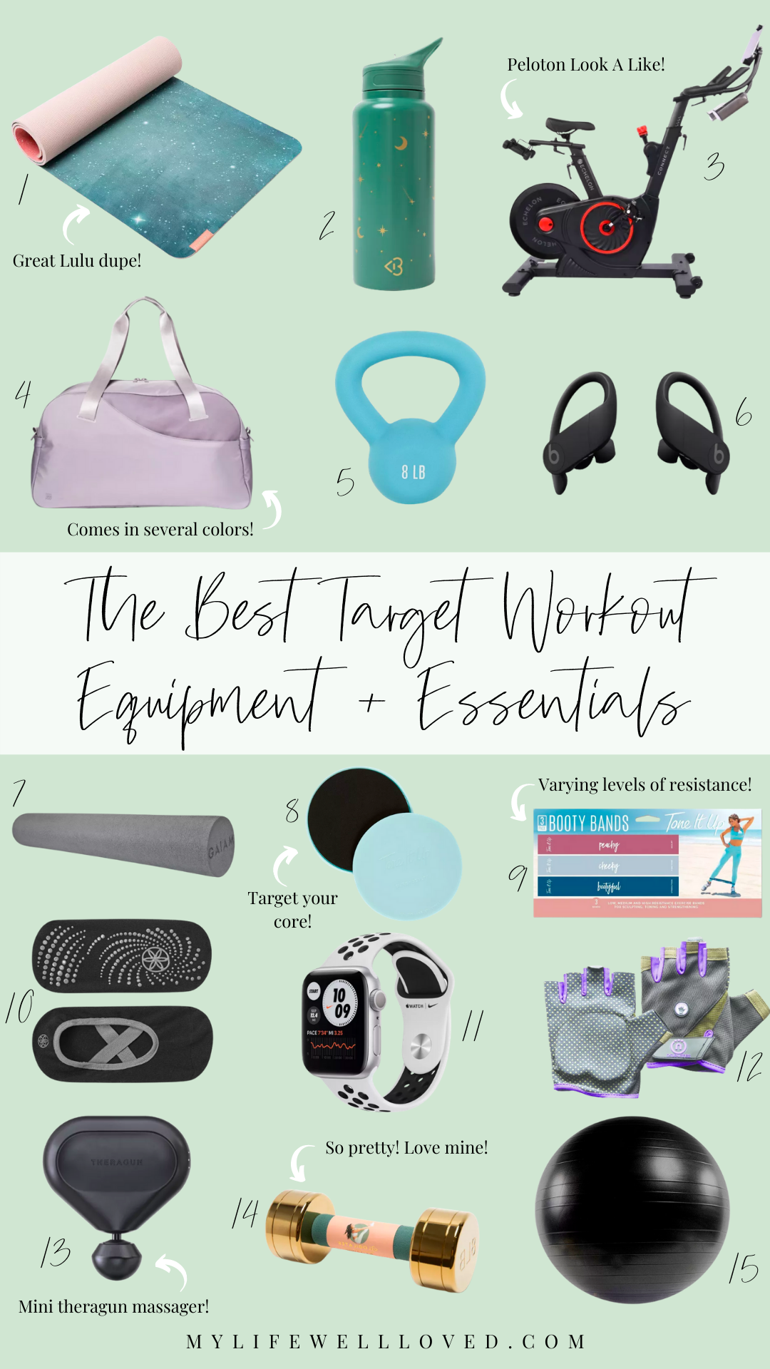 At Home Fitness: The Best Target Workout Equipment + Essentials by Alabama Health + Fitness blogger, Heather Brown // My Life Well Loved