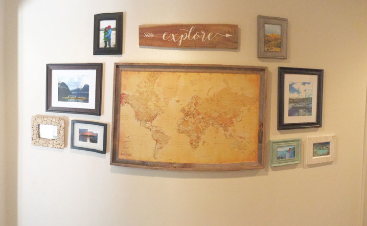 My Life Well Loved: Travel Wall Ideas Art and More to Make Your Home Feel Warm with Your Adventures