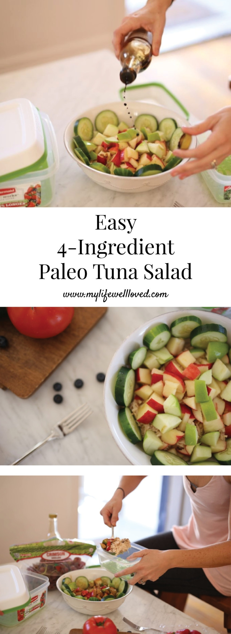 Easy 4-Ingredient Paleo Tuna Salad by Alabama Blogger Heather Brown // heathy recipes // weight loss meals // clean eating