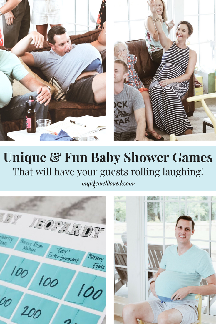 Unique & Fun Baby Shower Games by Alabama Blogger, Heather at MyLifeWellLoved.com // #babyshower #showergames