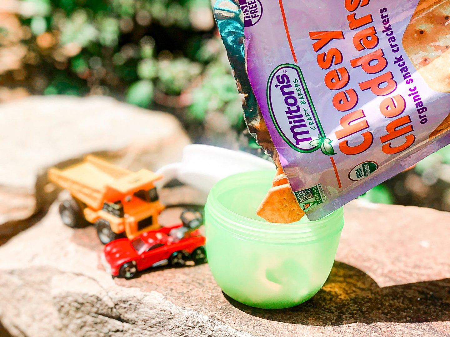 Milton's cheesy cheddars, snacks for kids