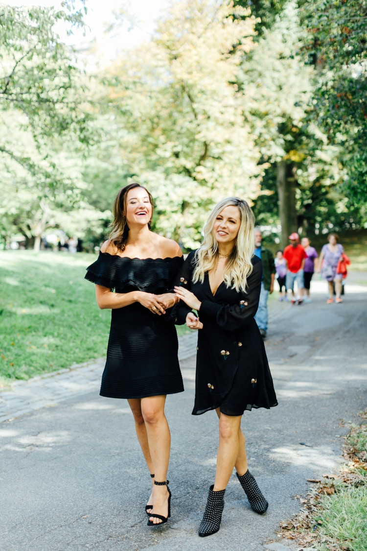 How to Meet New Mom Friends with Alabama blogger Heather of MyLifeWellLoved.com // How to Meet new friends // girlfriends // eliza j dress // how to style a little black dress