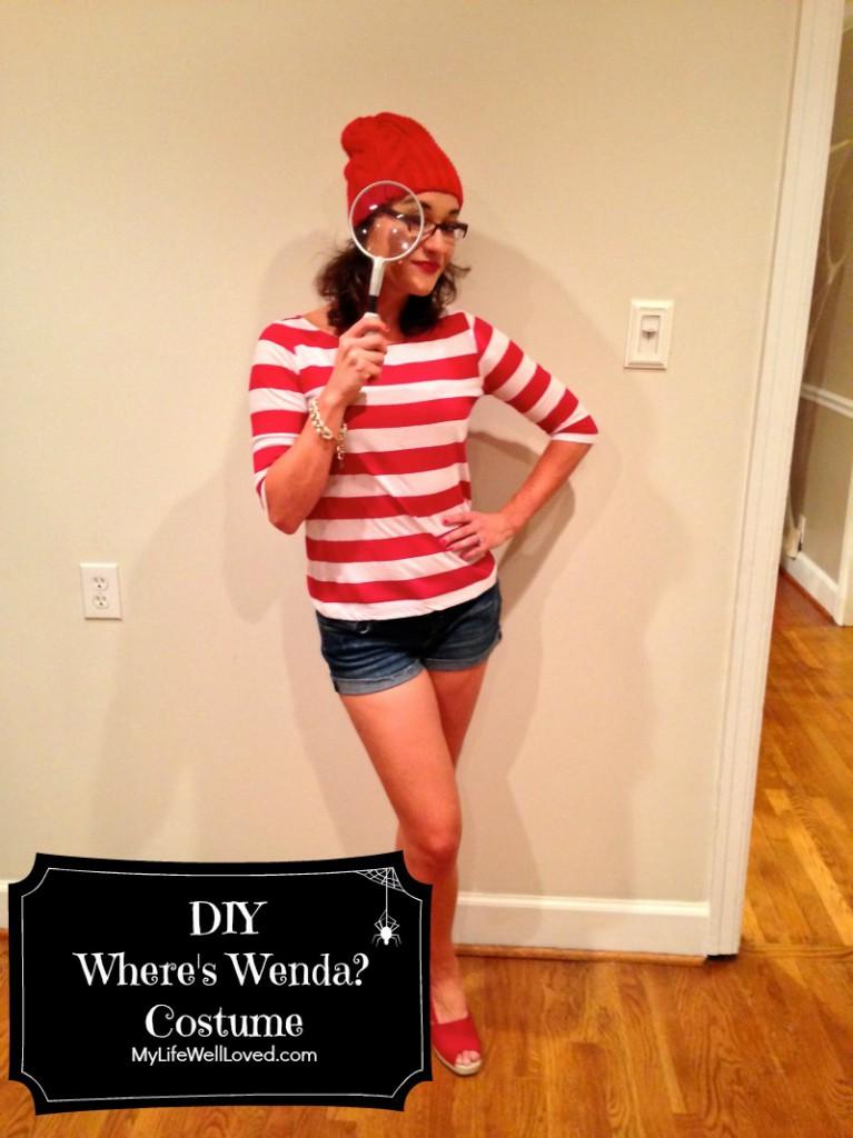 DIY Where's Waldo/Wenda Costume - DIY Where's Wenda Costume by Alabama lifestyle blogger My Life Well Loved