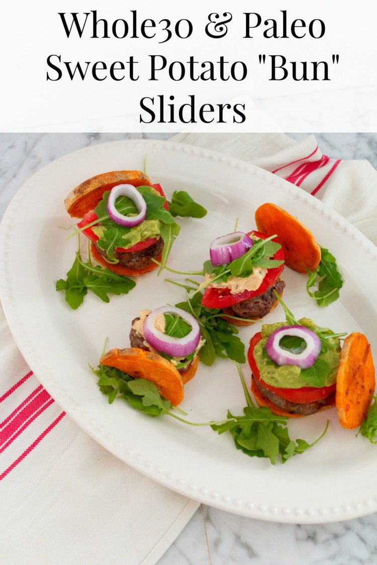 Whole30 sweet potato buns, Paleo Sliders from healthy lifestyle blogger Heather from mylifewellloved.com // Paleo Appetizer Recipe