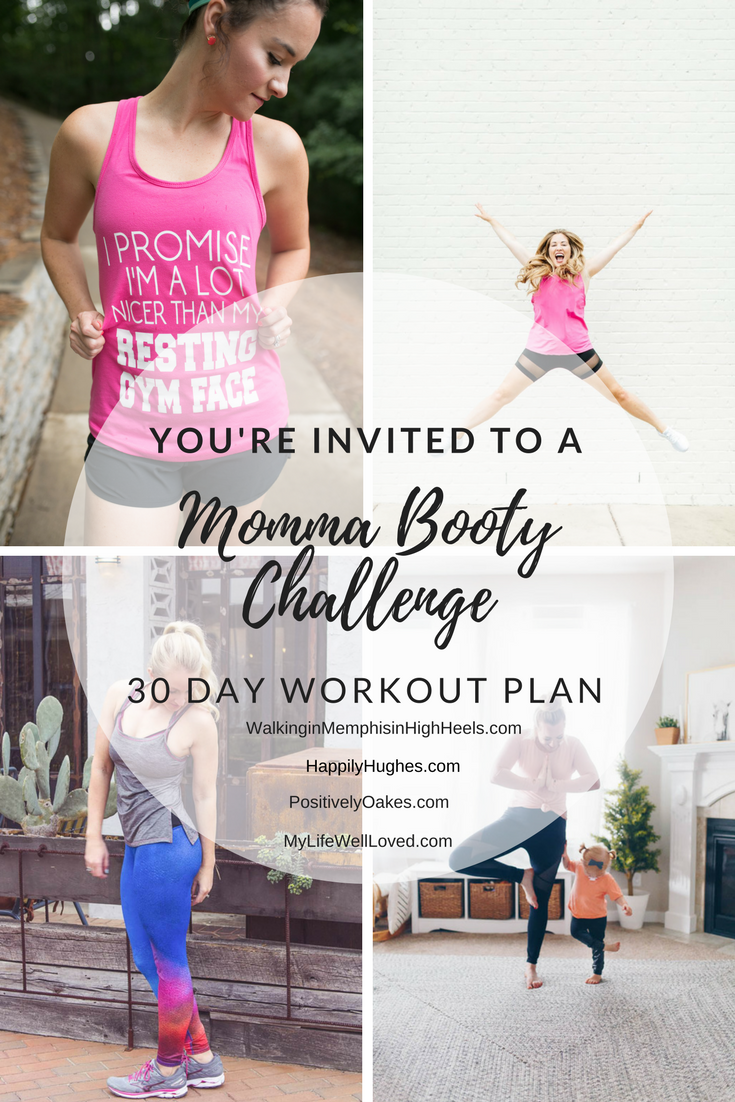 Glutes Workout // 30 Day Workout Challenge - Booty Challenge with Heather of MyLifeWellLoved.com // fitness