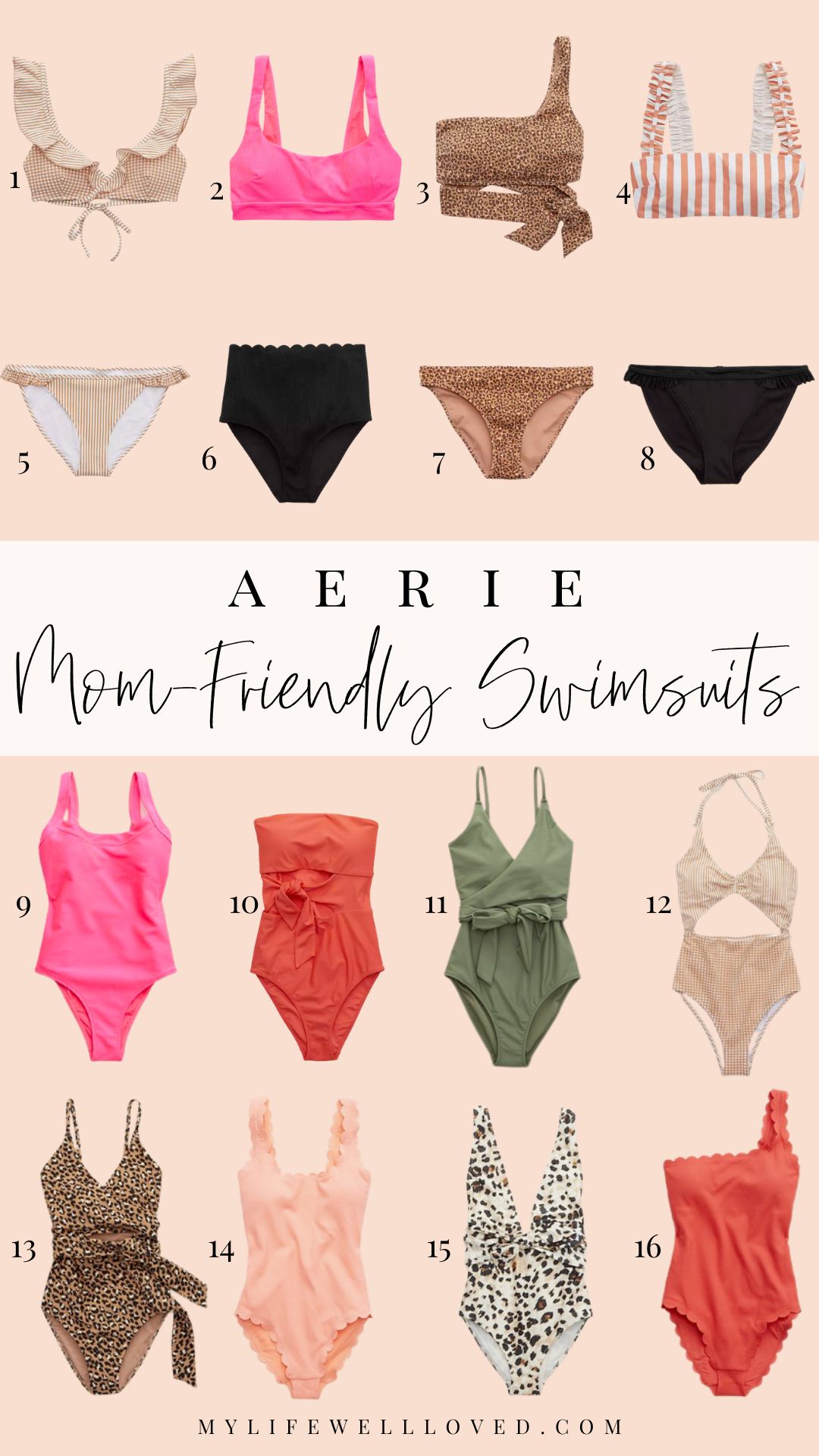 Moms Swim With Style: The Best Aerie Swimsuits For Women by Alabama Mommy + Style blogger, Heather Brown // My Life Well Loved