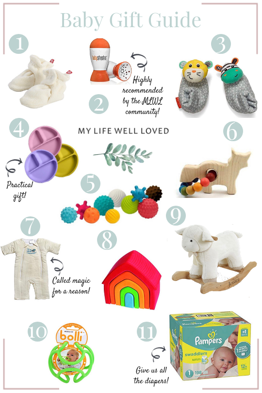 Baby and New Mom Gift Ideas by Popular Birmingham Lifestyle Blogger Heather at My Life Well Loved // #babygiftguide #babygifts #newmomgifts #giftguide #christmas