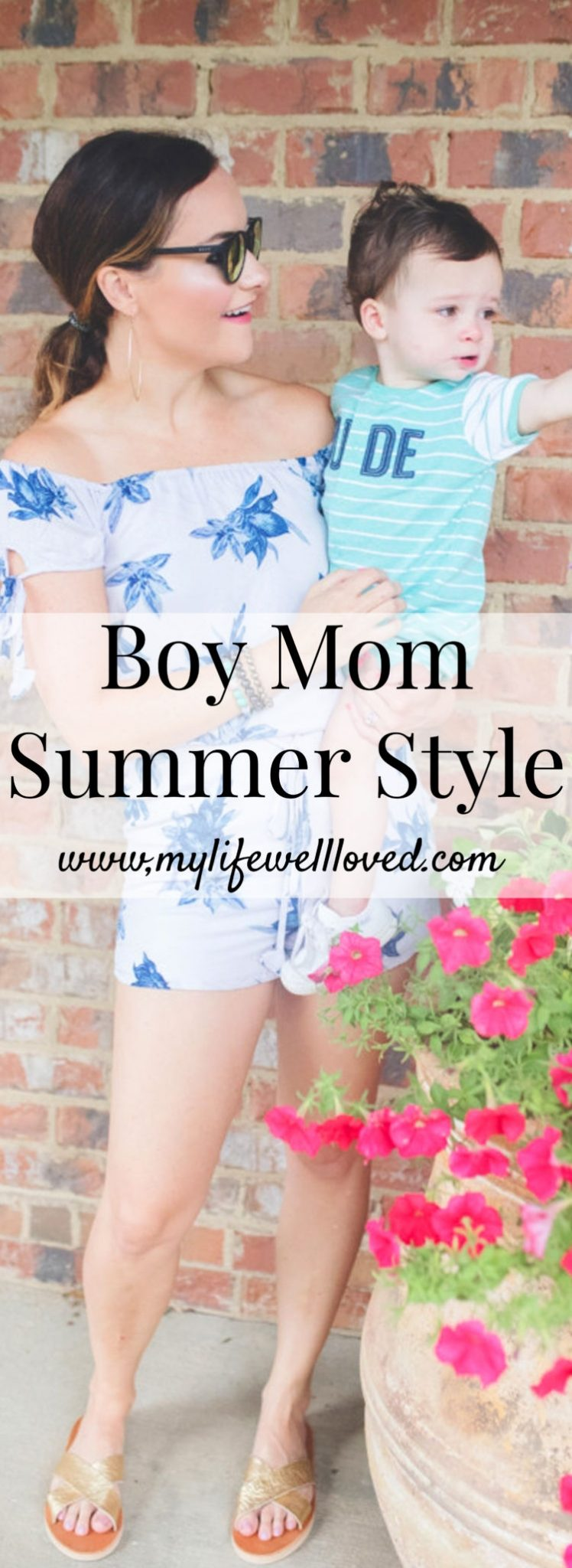 Boy Mom Style: Remedy Road Ethically Made Items Styled by Heather Brown of MyLifeWellLoved.com // Mom Fashion // Pinterest Graphic