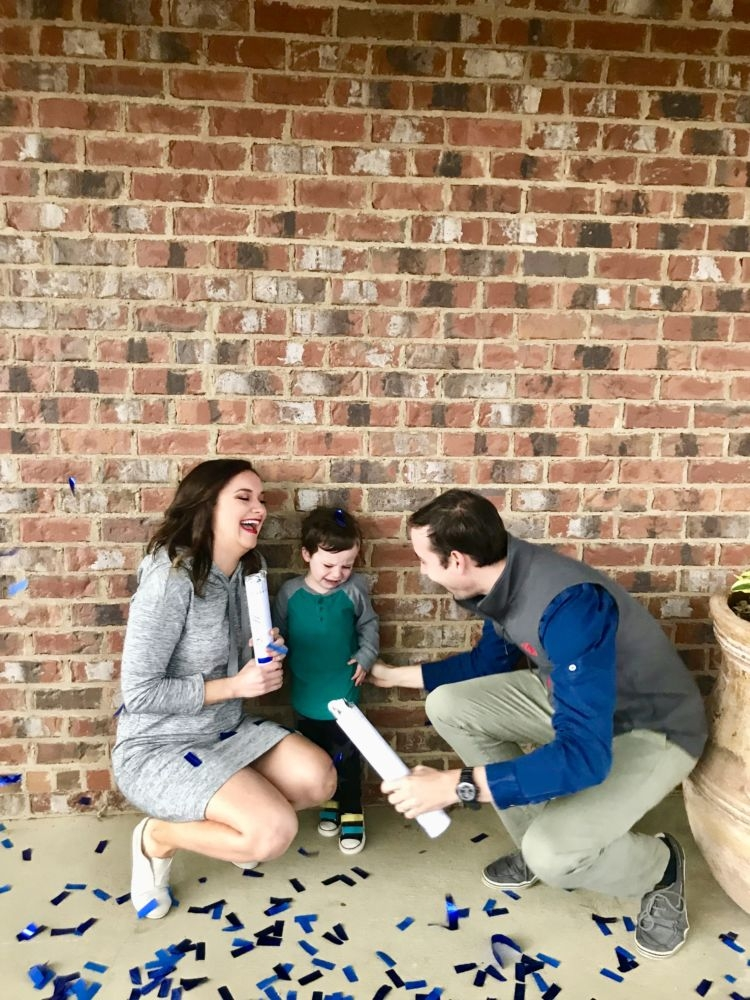 Gender Reveal from Alabama blogger Heather of MyLifeWellLoved.com // pregnancy update #genderreveal #babyboy