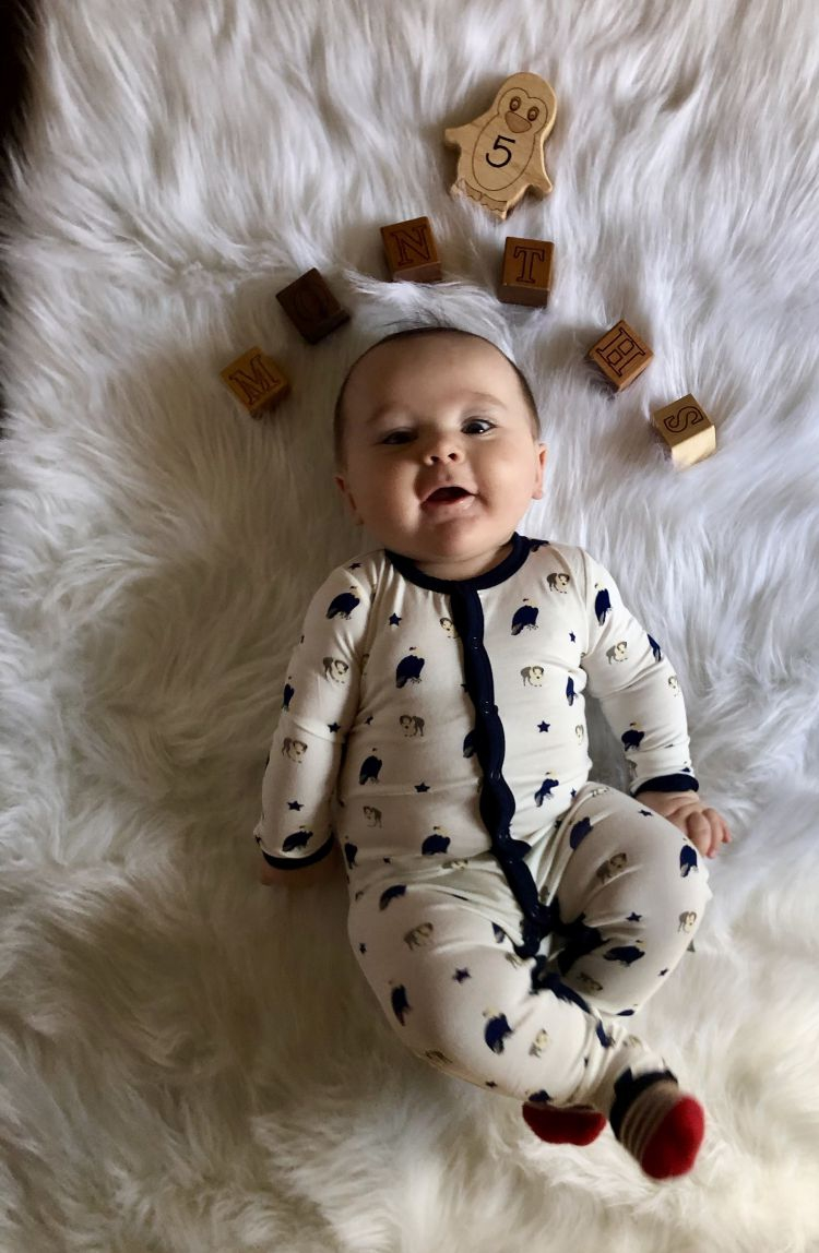 fd7c449a5 Baby Milestones by Month: Finn is 5 Months Old! - My Life Well Loved