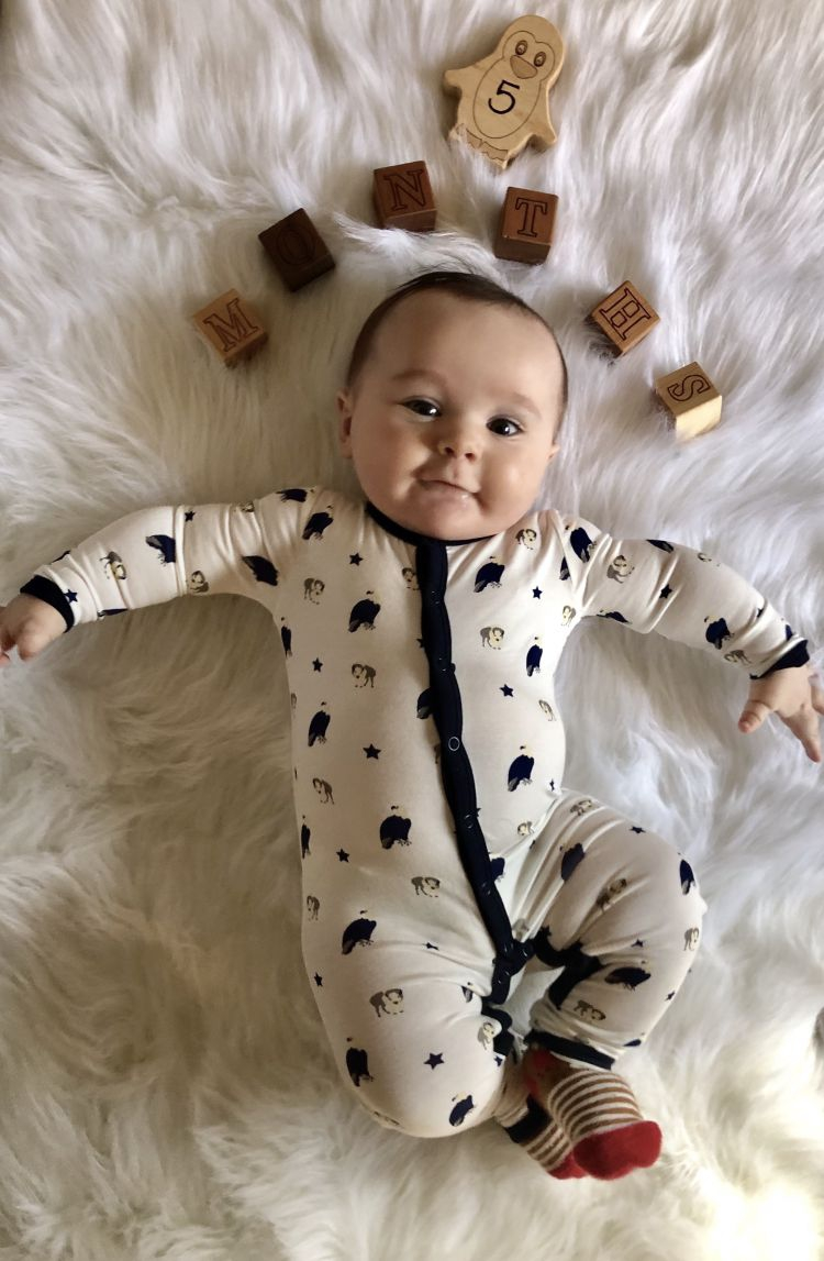 39a7e68e9 Baby Milestones by Month  Finn is 5 Months Old! - My Life Well Loved