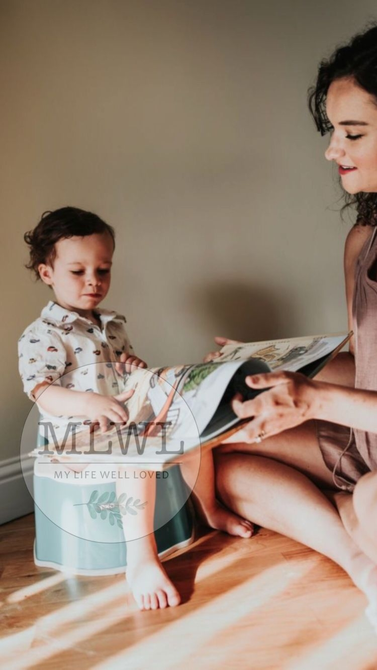 Potty training guide from Alabama blogger Heather of MyLifeWellLoved.com with TONS of tips from over 30 moms #pottytraining #toddler