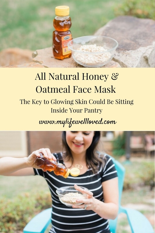 Oatmeal Face Mask with Honey from Alabama blogger Heather of MyLifeWellLoved.com // All-Natural Face mask that's great for girls' nights in! #facemask #allnaturalbeauty